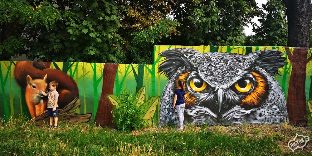 Malowidło na murze w Kochłowicach - Nietak.eu