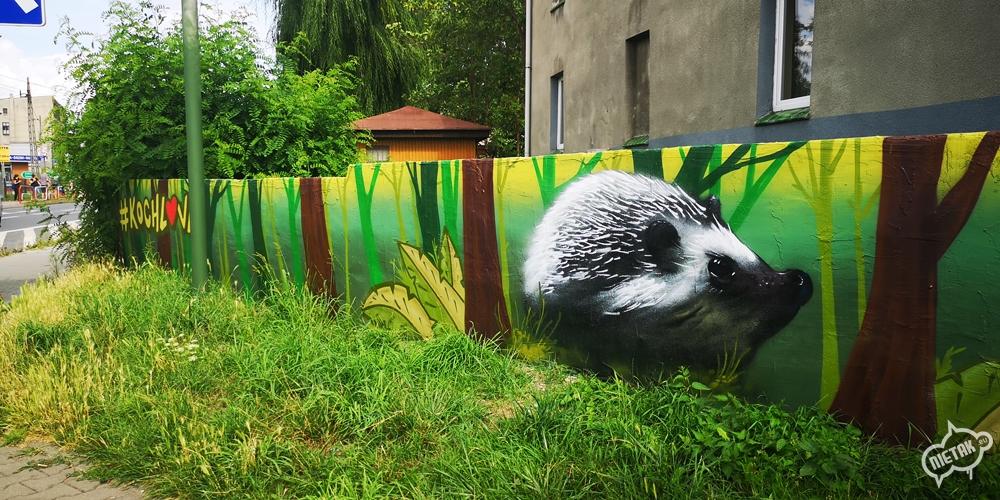 Mural w Kochłowicach - Nietak.eu