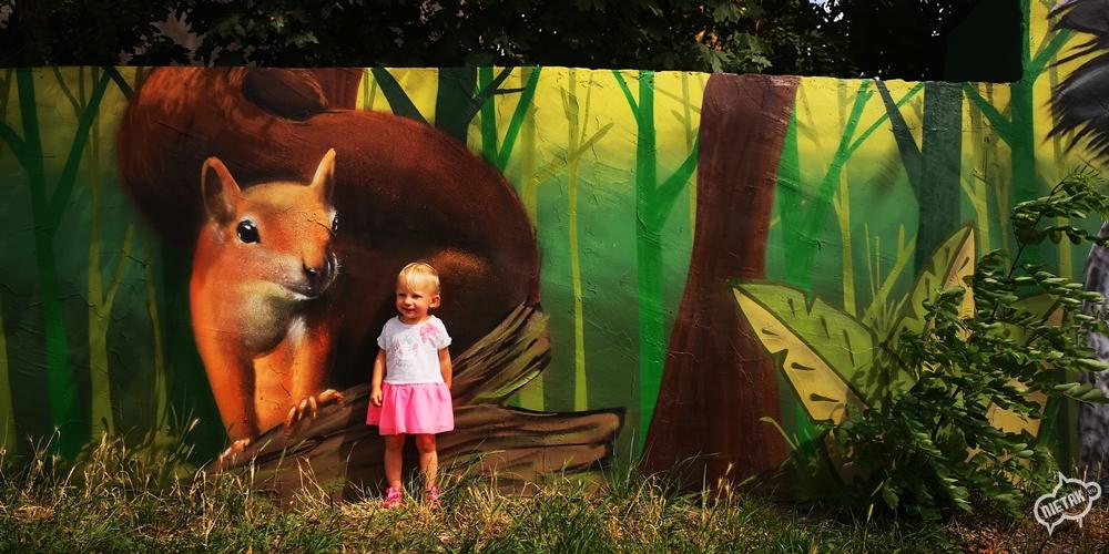 Mural z motywem leśnym w Kochłowicach - Nietak.eu