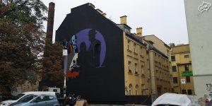 Mural dla wydawnictwa we Wrocławiu - Nietak.eu