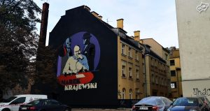 Mural Wrocław Marek Krajewski - Nietak.eu