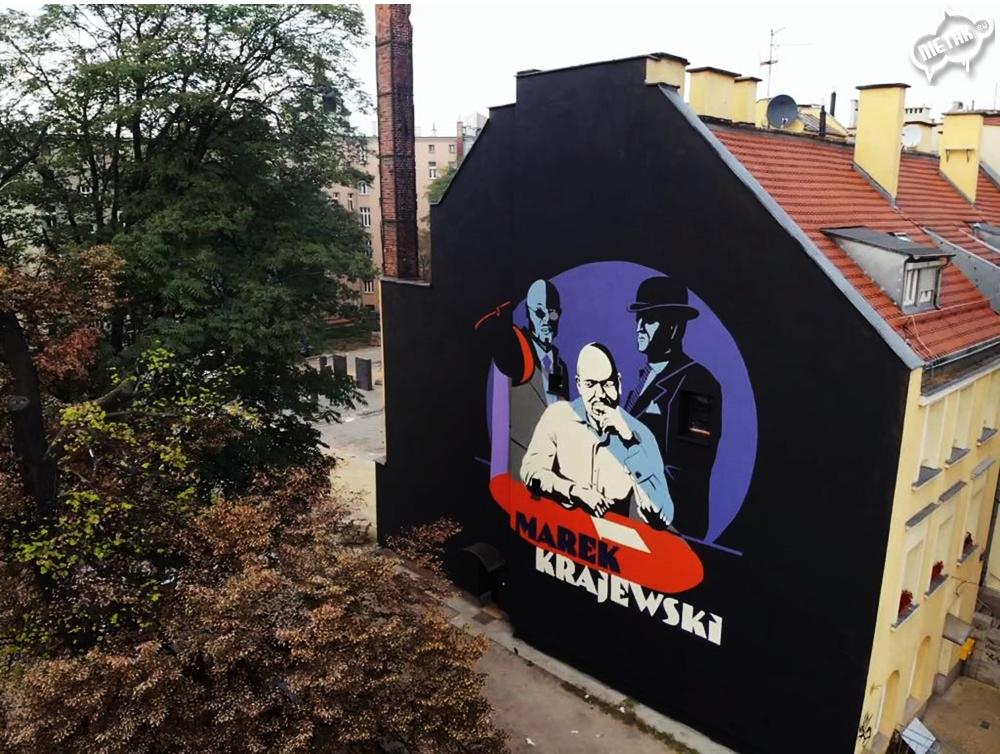 Marek Krajewski Mural Wrocław - Nietak.eu