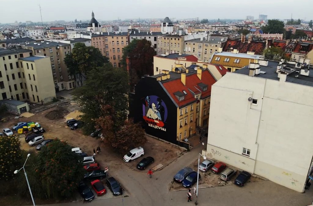 Krajewski Marek Mural we Wrocławiu - Nietak.eu