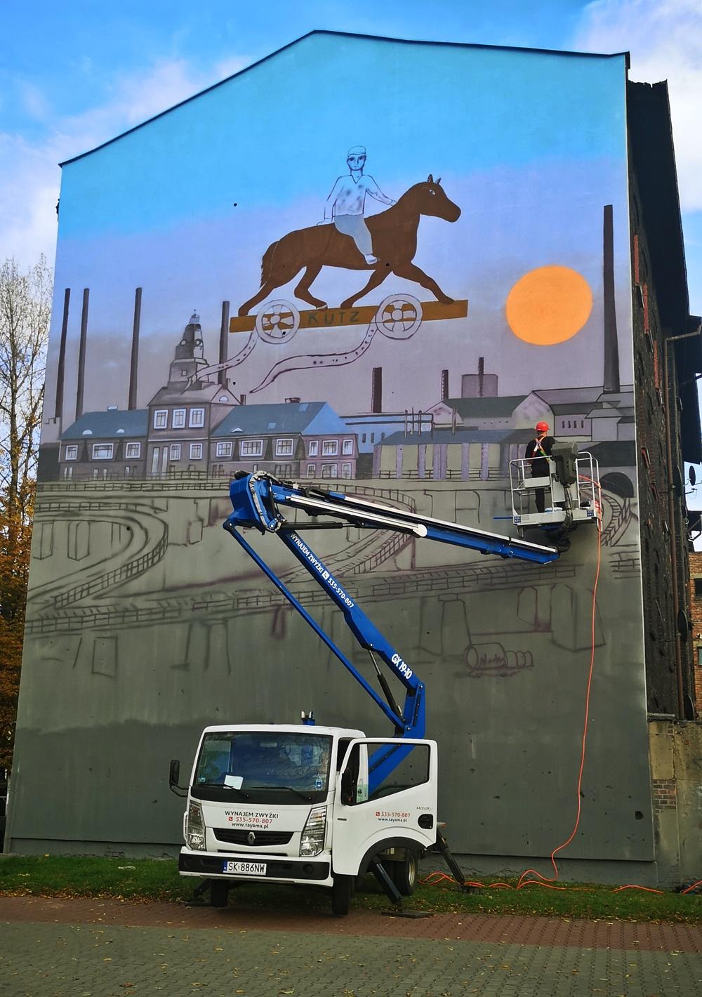 1. Kazimierz Kutz na muralu w Katowicach - Nietak.eu