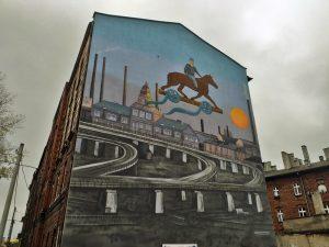 Katowice Szopienice mural Kazimierza Kutza - Nietak.eu