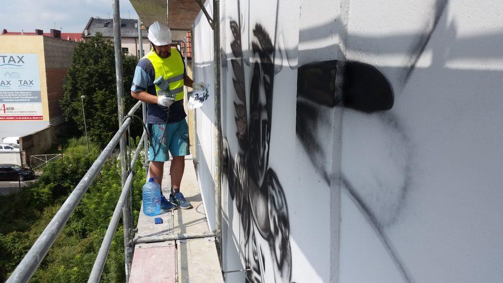 mural farbą oczyszczającą powietrze