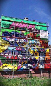 murale antysmogowe rusztowania